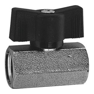 RIEGLER Mini-Kugelhahn sandgestrahlt