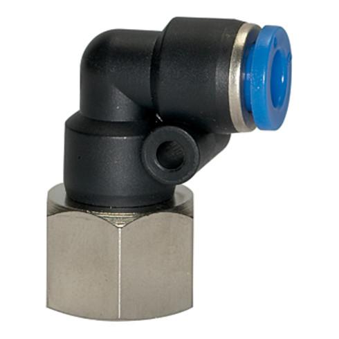 Riegler L-Steckverschraubung »Blaue Serie«, drehbar, M5 innen, Ø 6 mm