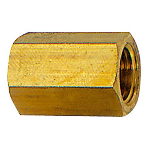 RIEGLER Muffe mit Außensechskant G 1/2 SW 27 Messing