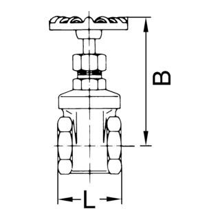 RIEGLER Muffen-Absperrventil