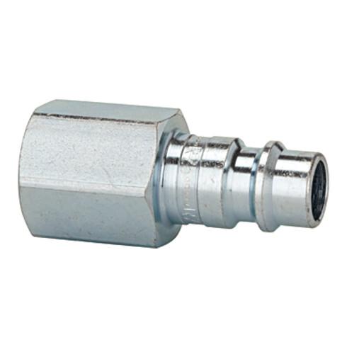 RIEGLER Nippel für Kupplung NW7,2-7,8, Stahl gehärtet/verzinkt, G 1/8 IG, 0- 35