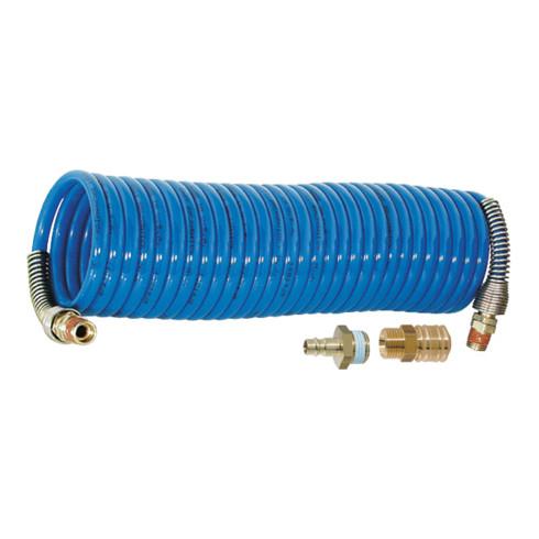 Riegler Nylon-Spiralschlauch 1/4 Zoll mit Kupplung 5 m