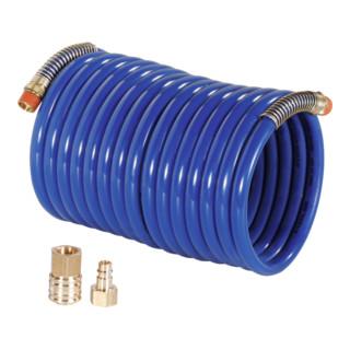 RIEGLER Nylon-Spiralschlauch 3/8 Zoll mit Kupplung 2,5 m