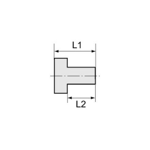 RIEGLER Reduziernippel kurze Ausführung G 1/2 AG G 3/8 IG SW 22 MS