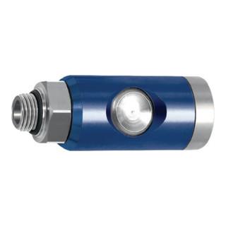 RIEGLER Sicherheitskupplung NW 7,4, mit Schlauchtülle LW 13, L = 88,5, SW 21 mm