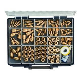 RIEGLER Sortimentsbox mit Schnellverschlusskuppl. und Stecknippel NW 7,2