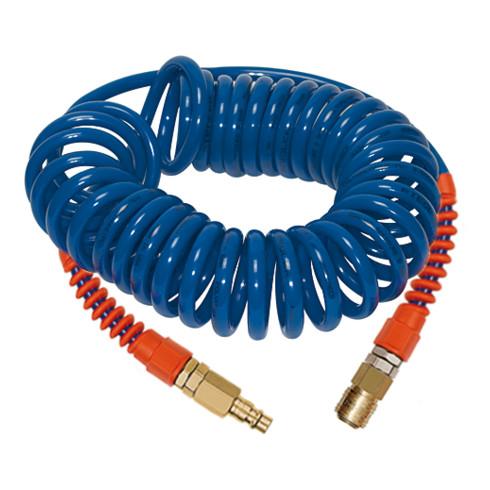 RIEGLER Spiralschlauch-Standardkupplung-Set, PU, Schlauch-ø 12x8, 10,0 m