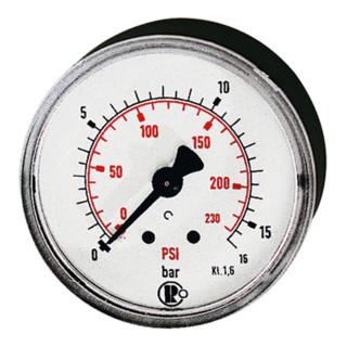 RIEGLER Standardmano G 1/4 hinten zentrisch 0 - 16,0 bar/230 psi Durchmesser 63 mm