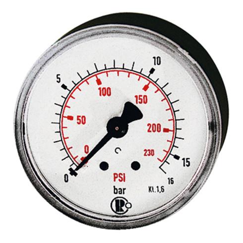 RIEGLER Standardmano G 1/8 hinten zentrisch 0 - 10,0 bar/145 psi Durchmesser 40 mm