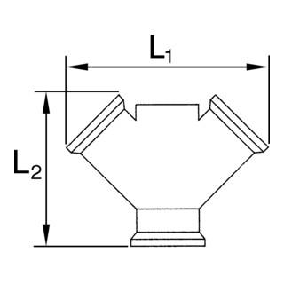 RIEGLER Verteiler 2fach G 1/2 i. 2 x G 1/2 IG Messing blank