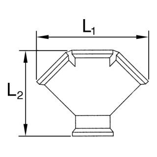 RIEGLER Verteiler 3fach G 1/2 i. 3 x G 1/2 IG Messing blank