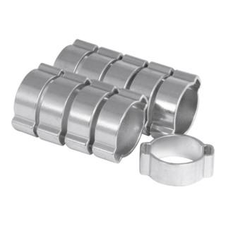 Riegler Zwei-Ohr-Schlauchklemmen Set, 5 - 7 mm, 10-teilig