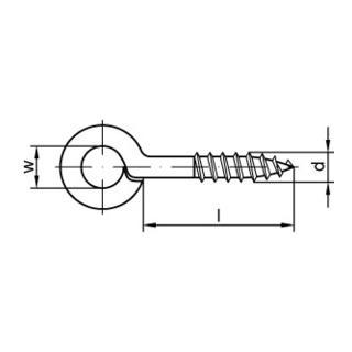 Ringschrauböse 40x14 Stahl galvanisch verzinkt