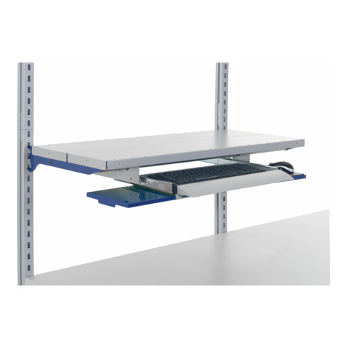 Rocholz Ablageboden mit Tastaturauszug SYSTEM FLEX für Breite 800 mm RAL9006+5010
