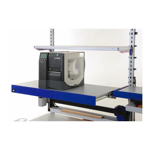 Rocholz Auszugboden komplett SYSTEM FLEX 1000x500x140 mm RAL9006/5010