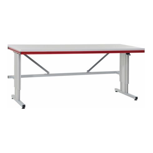 Rocholz Grundtisch mit Elektrohöhenverstellung SYSTEM FLEX 2000x800x720-1120 mm RAL9006/3003