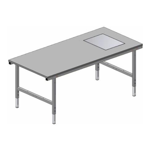 Rocholz Pack- und Arbeitstisch mit eichfähige Waage SYSTEM 2000 2000x920x690-960 mm