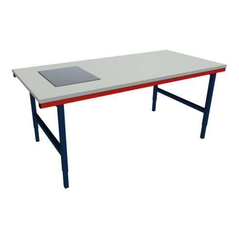 Rocholz Pack- und Arbeitstisch mit Waage SYSTEM 2000 2000x920x690-960 mm