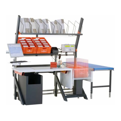 Rocholz Pack- und Arbeitstisch MODUL 5000 2000x1040x1330 mm mit integrierter Waage höhenverstellbar