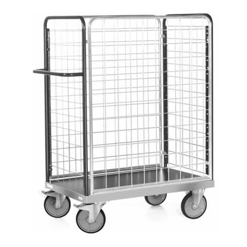 Rocholz Paketwagen 600 kg 1000x600 mit 4 Gitterwänden