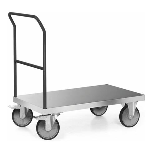 Rocholz Plattformwagen 600 kg 1200x800 mit 1 Schiebebügel