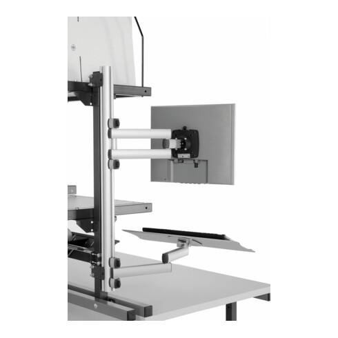 Rocholz Profilleiste für EDV Gelenkarme SYSTEM 2000 H 745 mm