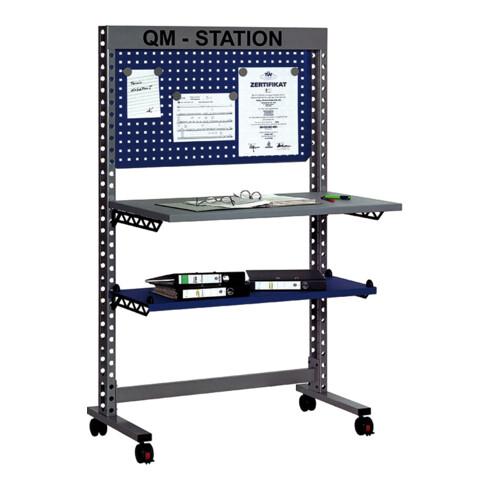 Rocholz QM-Station MODUL 5200 1050x650x1765 mm Metallablage und Infotafel