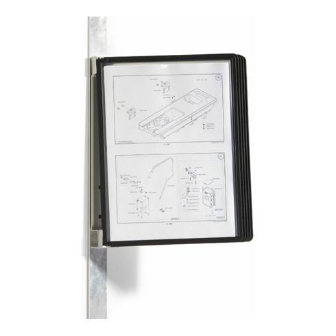 Rocholz Sichttafelhalter mit Magnetbefestigung inklusive 5 schwarzer Sichttafeln