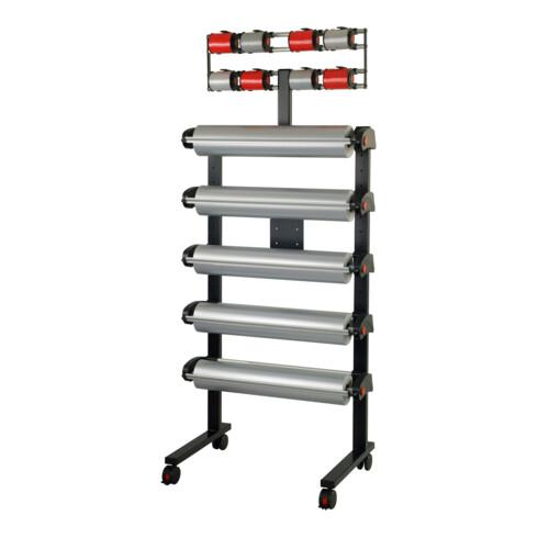 Rocholz Ständer fahrbar MULTI VARIO mit 5 Abroller