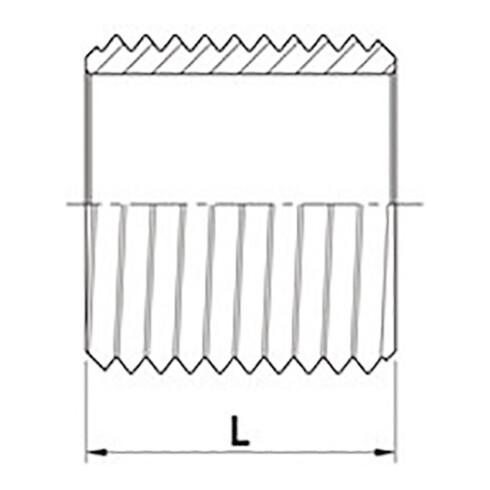 Rohrnippel ISO 228-1 NPS=1/4 Zoll L 18mm SPRINGER