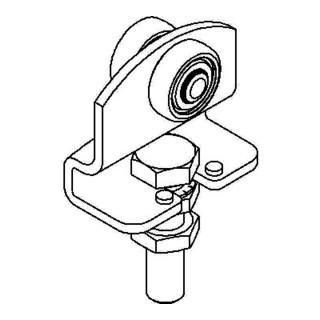 Rollapparat 190 Trgf.30 kg 1-achsig f.Profil 100 galvanisch verz.höhenverstellb.