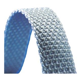 Rollladen-Gurtband Rl. grau Gurt-B. 14mm f.Gurt-L. 50 m Gurt-St. 1,7mm