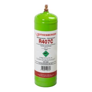 Rothenberger Kältemittel R407C, 2l, 40bar-Stahlflasche
