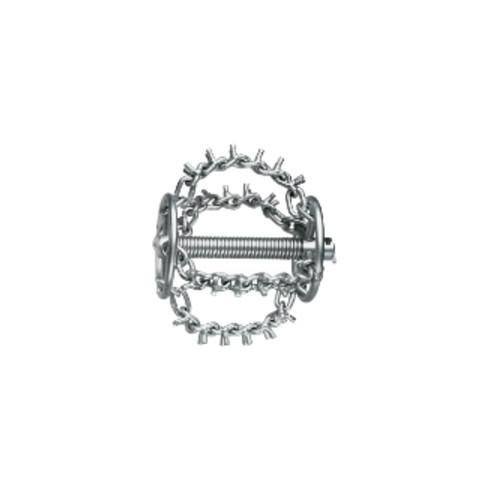 Rothenberger Kettenschleuderkopf mit Spikes, 4 Ketten und Ring