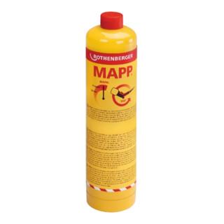 "Rothenberger MAPP Gas, 7/16""-EU, Sprachversion B (DK, NL, SE, FI, FR, RUS)"