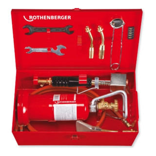 Rothenberger MULTI 300 Weichlötgarnitur B, mit Propanregler und Metallkoffer