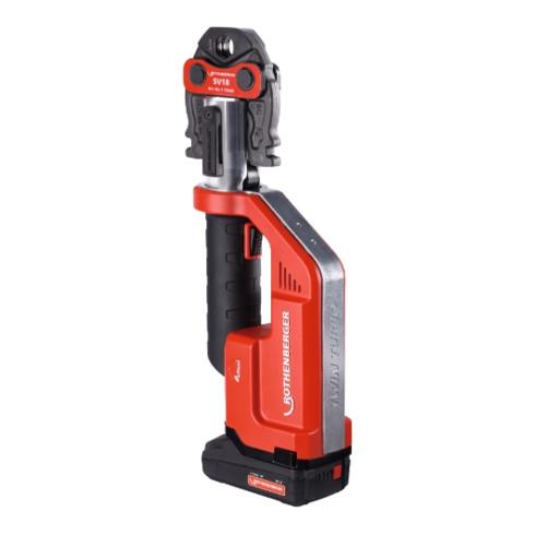 Rothenberger Pressmaschine ROMAX Compact TT Pressbacken-Set SV15-22-28, 1X2Ah, EU