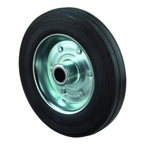 roue de rechange D.roue 100 mm cap.charge 70 kg caoutchouc D. axe 12 mm L. de mo