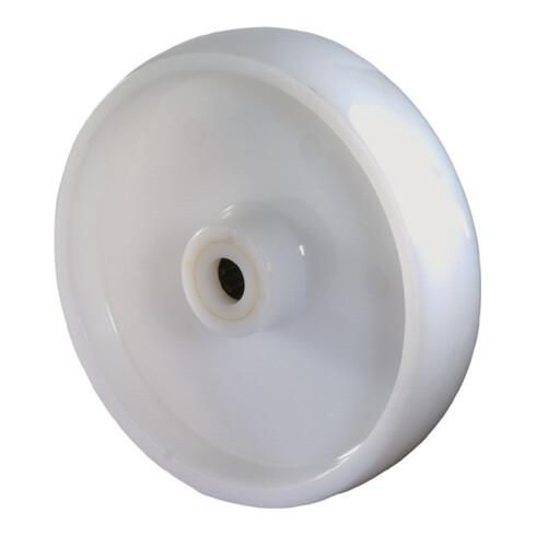 roue de rechange D.roue 125 mm cap.charge 750 kg plastique D. axe 20 mm L. de mo