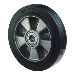 roue de rechange D.roue 160 mm cap.charge 350 kg caoutchouc D. axe 20 mm L. de m