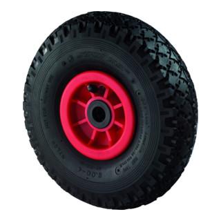 Roue gonflable D.roue 400 mm cap.charge 160 kg roue de rechange prof.rainuré pal