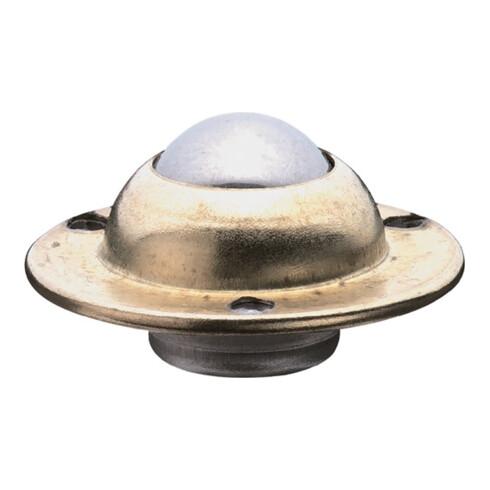 Rouleau à billes sphère en acier D. 17 mm acier galvanisé cap.charge 15 kg