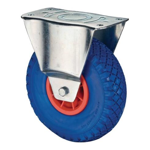 Roulette fixe 400 mm 200 kg polyuréthane 150 x 150 mm plastique
