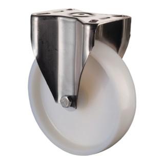 Roulette fixe D.roue 50 mm cap.charge 55 kg plastique plaque L60xl60 mm