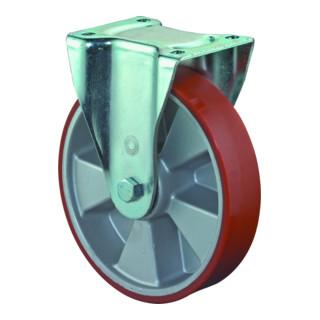 Roulette fixe de charge lourde D.roue 200 mm cap.charge 800 kg polyuréthane coul