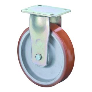 Roulette fixe de charge lourde D.roue 85 mm cap.charge 800 kg polyuréthane moulé