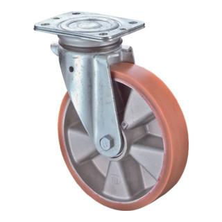 Roulette pivotante D.roue 125 mm cap.charge 200 kg avec plaque de fixation banda