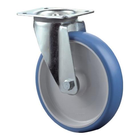 Roulette pivotante D.roue 80 mm cap.charge 125 kg polyuréthane plaque L104xl80 m
