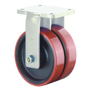 Roulette pour équip. de transport lourd 300 mm 2000 kg sans blocage total polyur