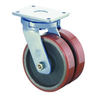 Roulette pour équip. de transport lourd D.roue 300 mm cap.charge 2000 kg polyuré